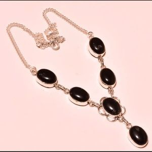 New Black Onyx Sterling Silver 925 necklace